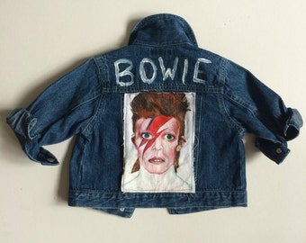 THE ZIGGY JACKET - Hand Painted David Bowie denim for kids