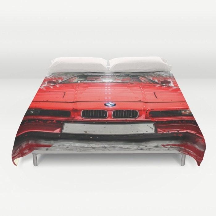 housse de couette voiture bmw 850 rouge couette housse couette. Black Bedroom Furniture Sets. Home Design Ideas
