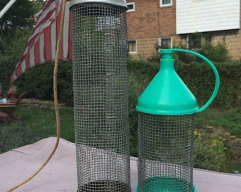 Two Vintage Cricket Bait Cages for Fishing Wire Mesh