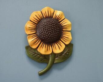 Vintage Plaster Sunflower