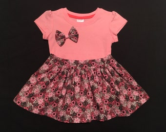Dark floral skirt