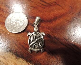 Sea Turtle Sterling Silver Pendant
