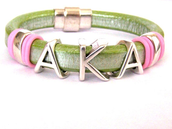 alpha kappa alpha jewelry sorority leather bracelet alpha kappa alpha sorority jewelry 8289