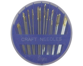 25 Assorted Compact Hand Needles for Quilting/Cross Stitch