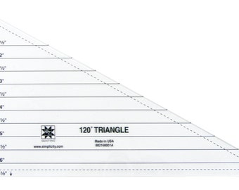 120 Degree Triangle Acrylic Quilting Template