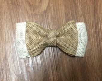 Simple Cream Burlap Bow