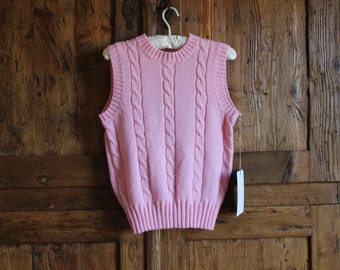 1980s vintage pink sweater vest , size small (womens), xs (mens)