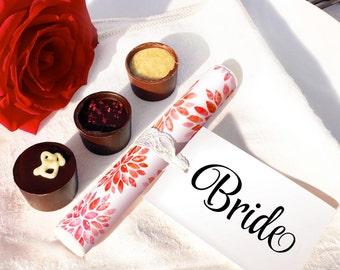 Sparklers Wedding Favour - RED Floral Dahlia Design