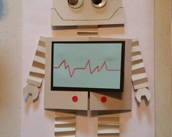 Very cute robot birthday invitations! Set of ten