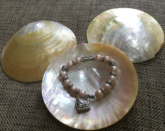 Pearls bracelets with silver