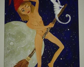 Galileo- Acrylic Canvas Original Painting by Nebula
