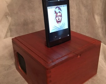 Cigar Box Cell Phone Charger and Speaker