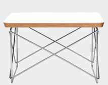 Eames LTR Style Side / Coffee Table Low Table Rod Base White Laminate Top Chrome Wire Base FREE Worldwide Shipping