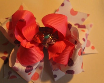 Summertime boutique hair bow