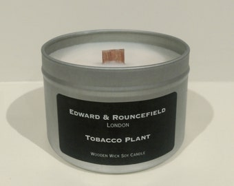 Tobacco Plant Wooden Wick Soy Wax candle