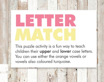 Letter Match - Upper and Lower Case Puzzle