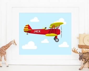 Personalised Children's Plane Print