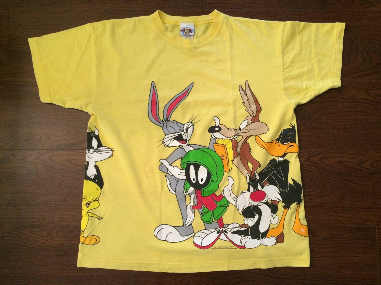 medium 1996 official looney tunes cast vintage t shirt warner
