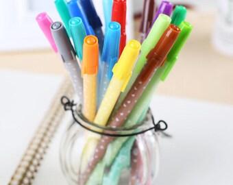 Heart Gel Pens / Stationary / Office Supplies / School Supplies / Kawaii Stationary / Cute Gifts / Cute Gel Pens / Set of 12 Heart Gel Pens