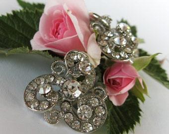 "Crystal Bridal Clip On Earrings ""Swirls of Fate"", Wedding Earrings, Bridesmaid Jewelry, Bride Earrings, Stud Earrings"