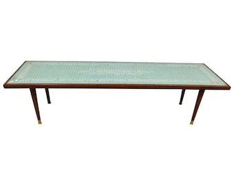 Mid Century Tile Top Coffee Table