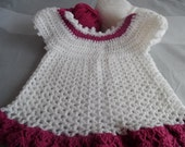 Baby Dress, Baby Clothes, Crochet Baby Dress, Crochet Baby Clothes