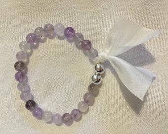 I am Complete Super 7 Melody Stone Sacred 7 sterling silver mala bracelet