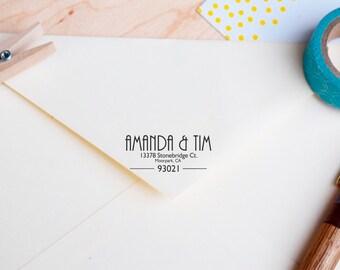 Rubber address stamp / Return address stamp / Custom address stamp / Self-inking stamp / Personalized Address stamp / Housewarming gift