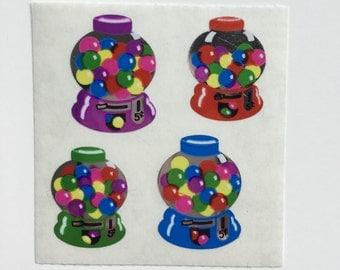 Vintage Mylar Gum Ball Sandylion Stickers