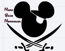 SVG Pirate Mickey Cutting File-- Instant Download--Svg Only