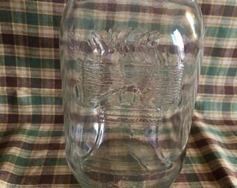 Vintage Liberty Bell Quart Mason Jar