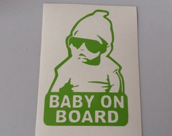 BABY ON BOARD Vinyl Car Window Decal * Hangover Baby * Free Shipping