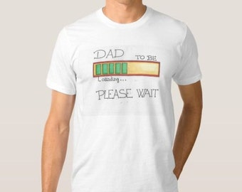 T-shirt White Dad To be. Father