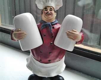 Chef with Salt & Pepper Shakers - Vintage