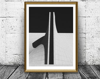 Form and Shadow Print, Abstract Architecture Print, Building Photo, Black White, Last Minute Gift, Printable Art, Housewarming gift