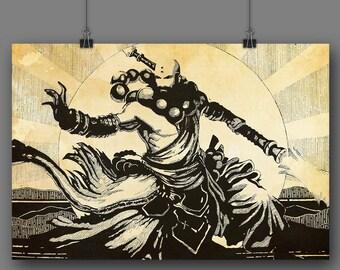 Diablo 3: Monk (Tea Stain)