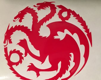 Game of Thrones House Targaryen Vinyl Decal