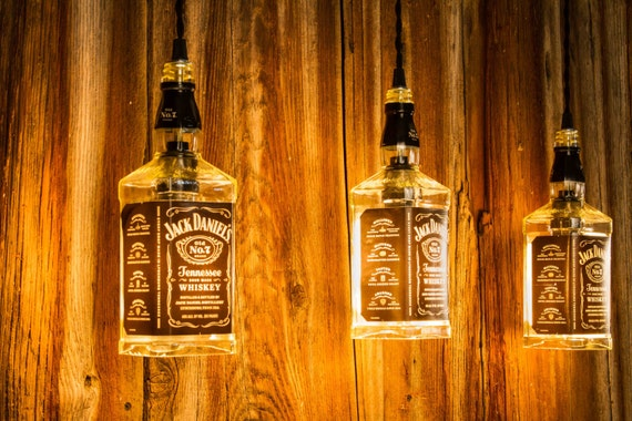 bar ideas for your garage - Bottle Light Whiskey Bottle Light Pendant Light Plumbing