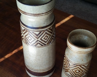 Two Pottery Craft Vases