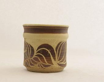 Vintage Mid Century Ceramic Incense Jar