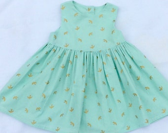Toddler Dress with Swallow Print