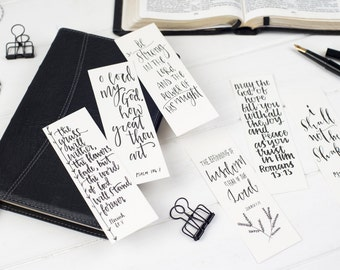 Downloadable Bible Verse Bookmarks (pack of six)