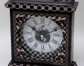 Alice in Wonderland Clock. White Rabbit Clock. Clock, Mantel Clock. The White Rabbit.