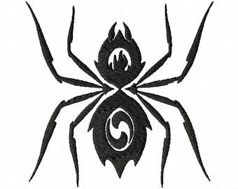 Tribal Spider digital embroidery design.