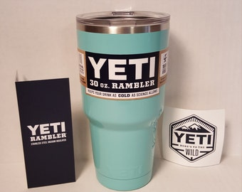 Custom Powder Coated Authentic Yeti Rambler 30oz or 20oz - Sea Foam Green
