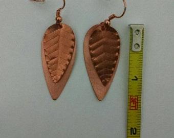 Layered Leaf Earrings