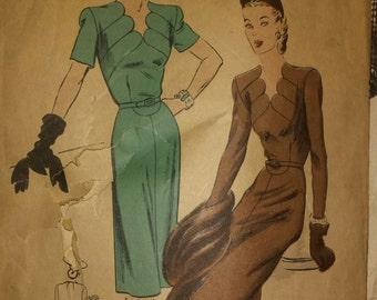 1930's Vogue Pattern Sz 14 dress with AMAZING neckline