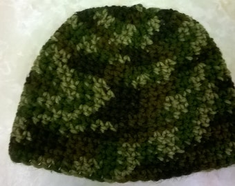 Camouflage Crochet Hat