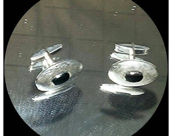 Vintage silver colored cuff links