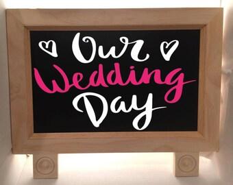 Wedding Sign - Wedding Chalkboard Sign - Chalkboard Sign - Wedding Welcome Sign - Standing Chalkboard - Wedding Decor